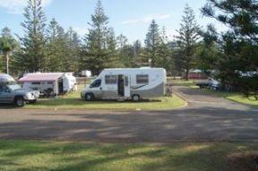 Campsite at Port Macquarie.
