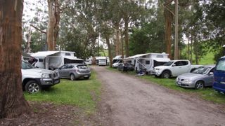 Around 20 motor homes together for Cup Weekend