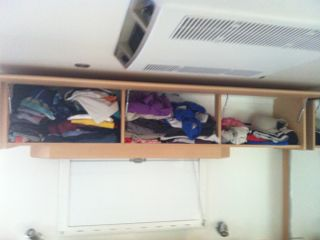Its said that I bring too many clothes on holidays - mine are on the left.
