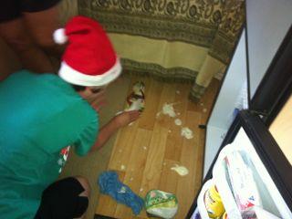 Accidents happen - yoghurt spill