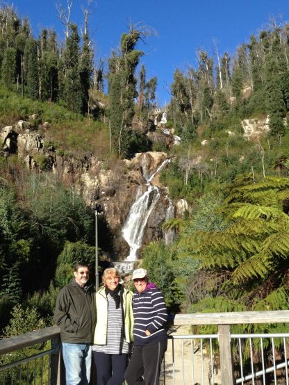 Steavensons Falls - with Lyn with Rod and Earlene
