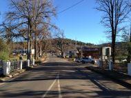 Looking up the main street of Marysville