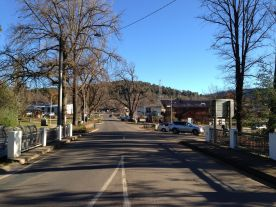 Looking up the main street of Marysville