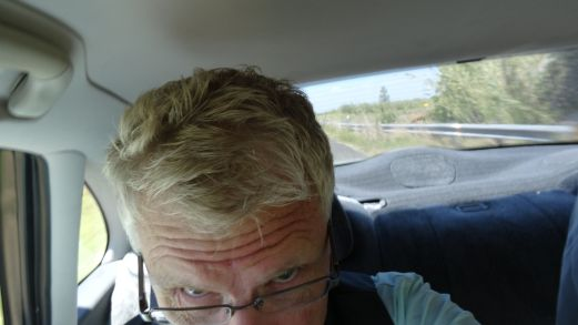 The new mirror - take a picture to see what the wife did to the hair.
