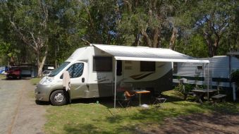 Great camping spot at Pacific Palms Caravan Park