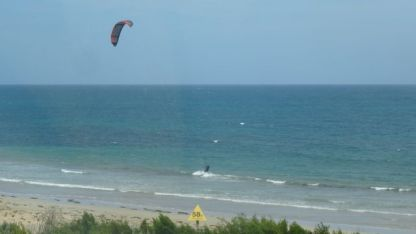 With strong winds kite surfing is a great sport