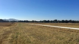 The first racecourse we have ever walked around.