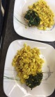 Scrambled Tofu and spinach for breakfast
